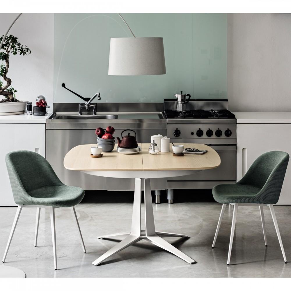 Tavolo Quadrato Allungabile Design Midj Link 120x120 Arredasi