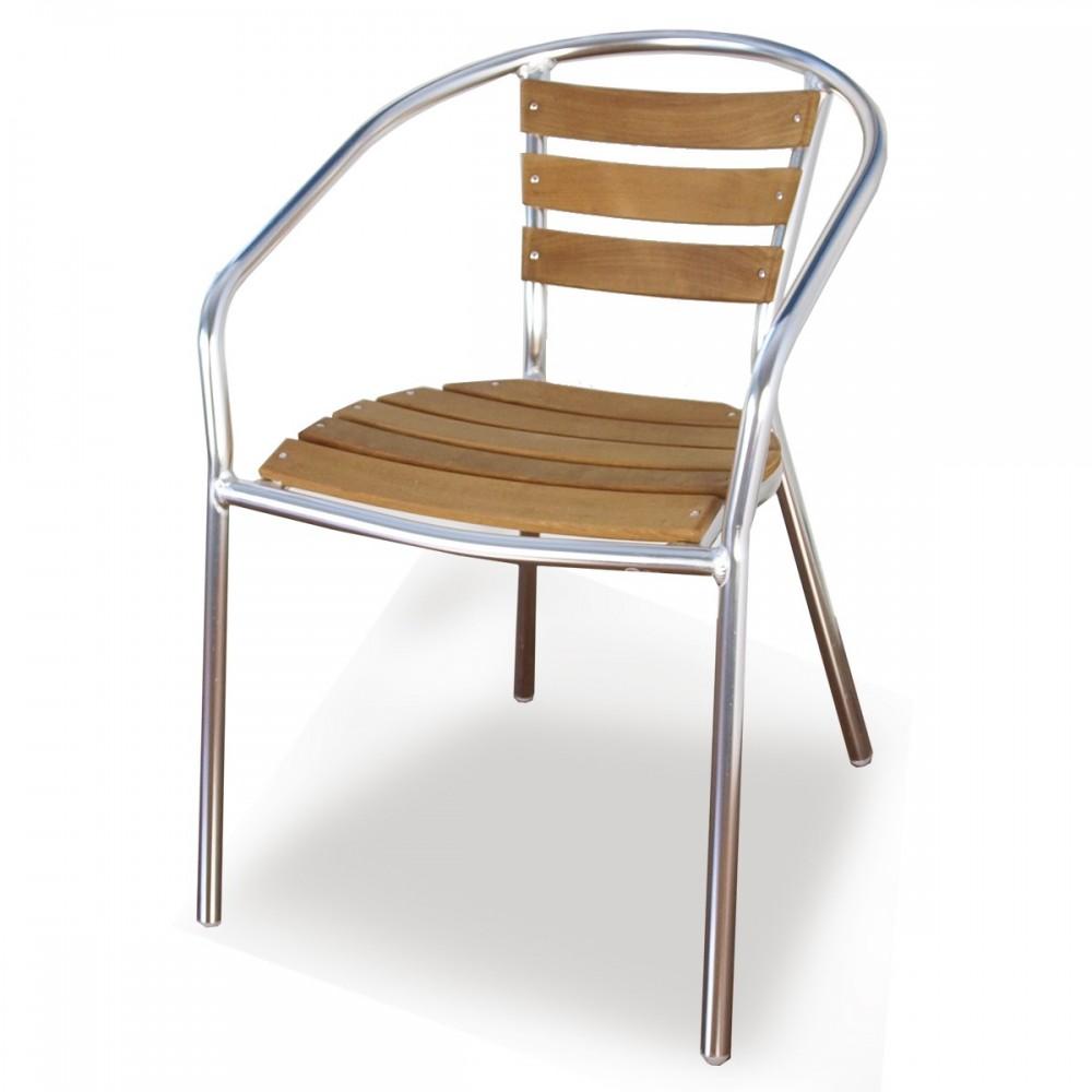 Sedie in metallo e legno - Gin   ArredaSì