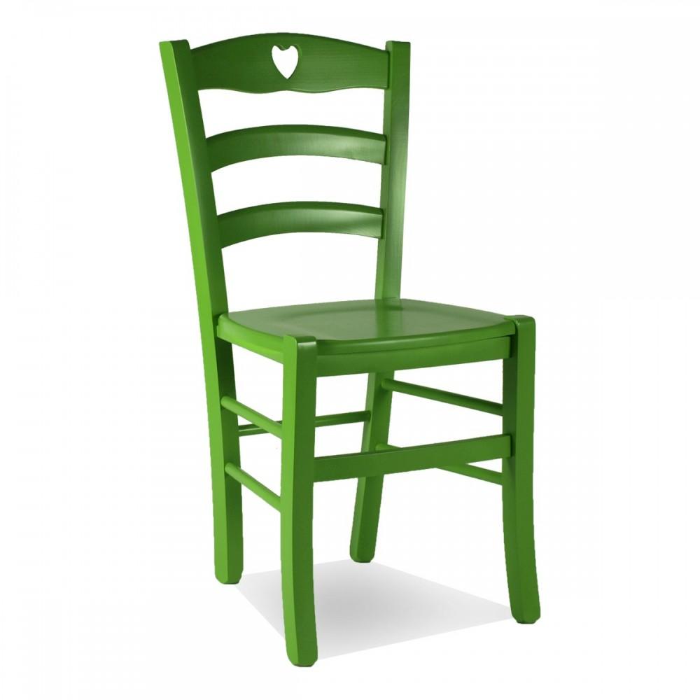 Sedie legno colorate per cucina - Shabby Cuore C   ArredaSì