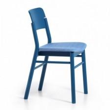 Sedia moderna in legno blu
