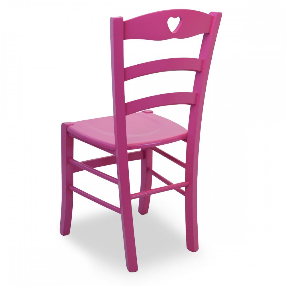 Sedie legno colorate per cucina - Shabby Cuore RAL | ArredaSì