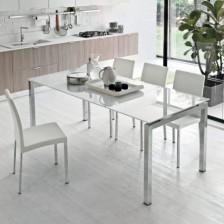 Tavolo in vetro bianco Auriga - Target Point