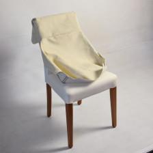 Sedia imbottita con tessuto sfoderabile