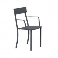 Sedia in ferro con braccioli - Mogan | Vermobil