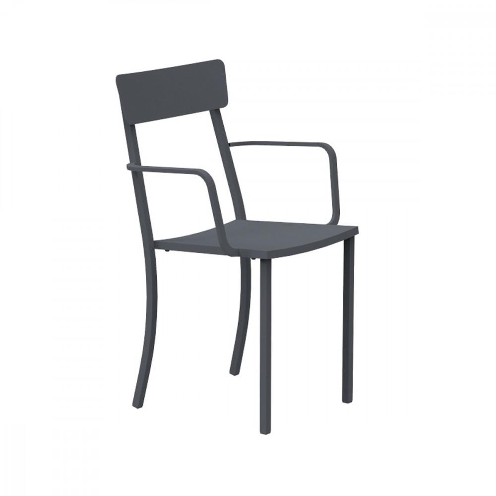 Sedia in ferro con braccioli - Mogan   Vermobil