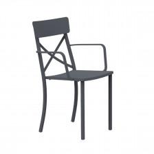 Sedia in ferro con braccioli - Mogan X P | Vermobil