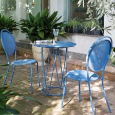 Sedie in ferro da giardino colorate