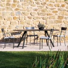 Sedia in ferro con braccioli da giardino - Mogan   Vermobil