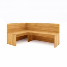 Cassapanca angolare da cucina in legno chiaro