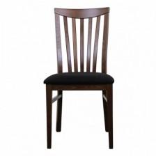 Sedia in legno con schienale a stecche