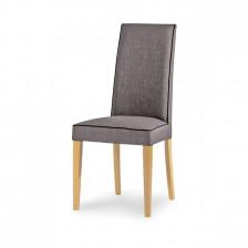 Sedia in legno imbottita con bordino