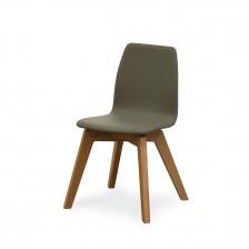 Sedia con gambe in legno