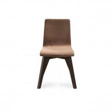 Sedia moderna con gambe in legno