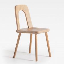 Sedia moderna in legno di rovere