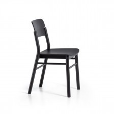 Sedia in legno nero in stile nordico