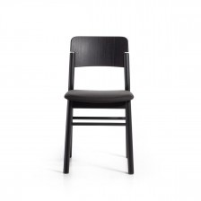 Sedia moderna in legno nero