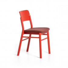 Sedia moderna in legno rosso