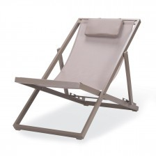 Sedia a sdraio in alluminio reclinabile