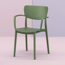 Sedia in plastica moderna verde