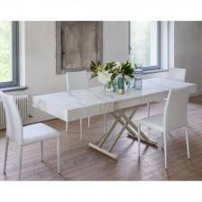 Piano Bianco Statuario Venato N44; struttura Grisou goffrato M02