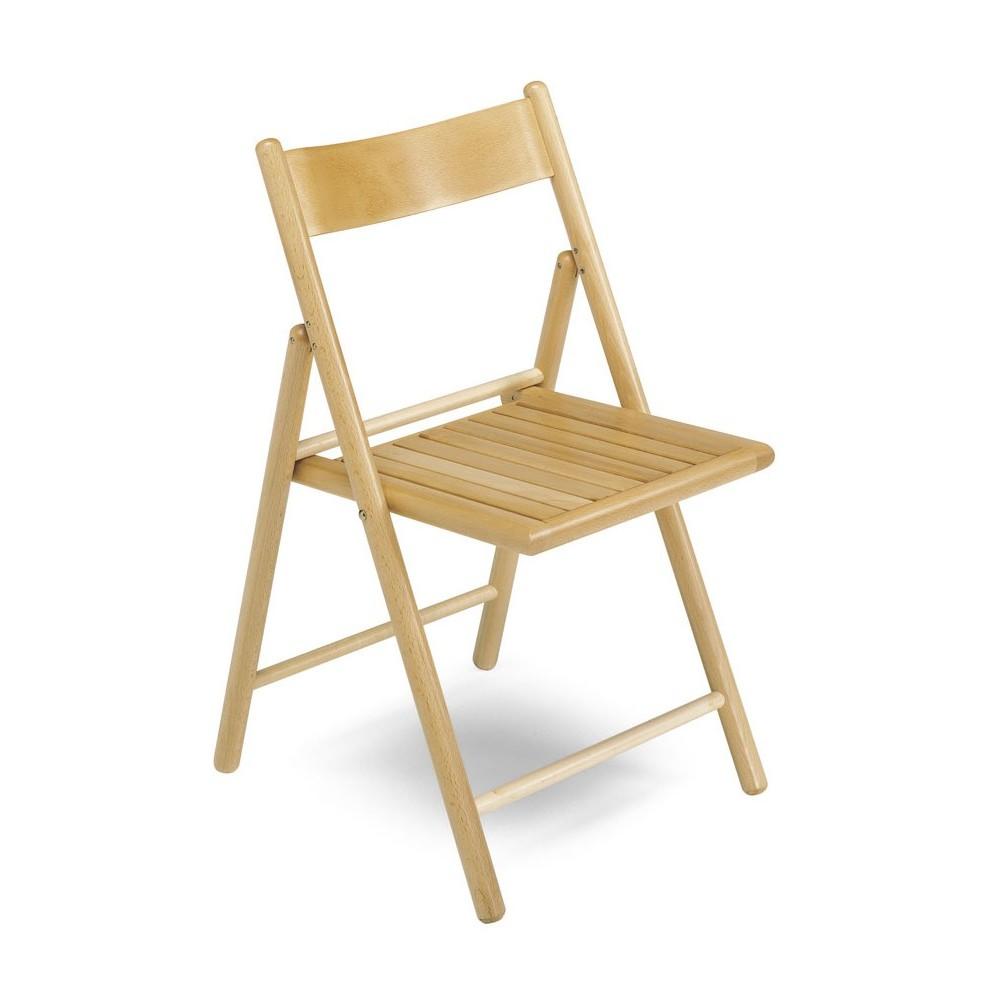 sedia legno pieghevole a listelli