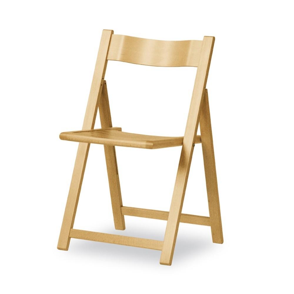 Sedia pieghevole in legno con sedile a listelli 190 EV Pieghevole | ArredaSì