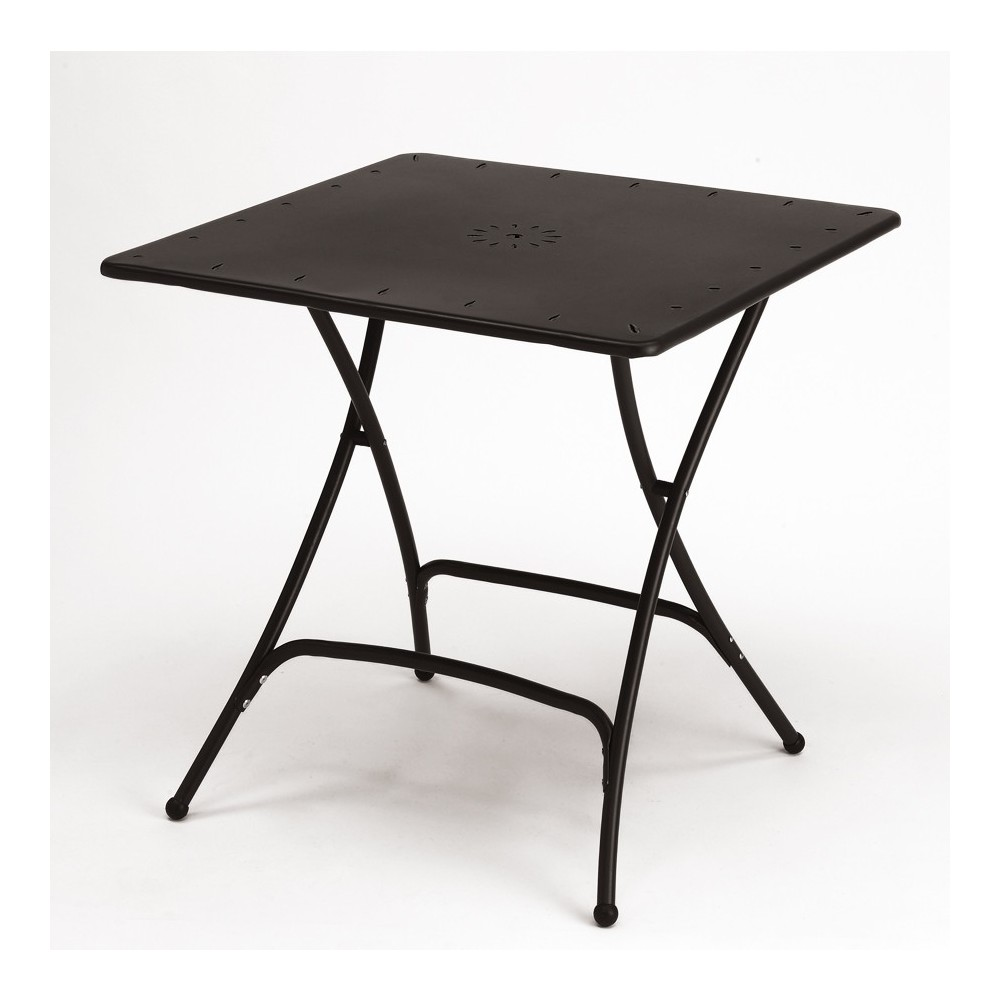 Tavolo Quadrato Pieghevole In Ferro Per Esterno 80x80 Arredasi