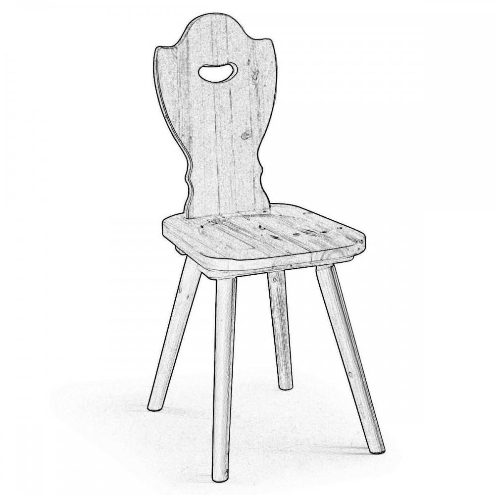 Sedia in legno di pino grezza da verniciare - Bove legno ...