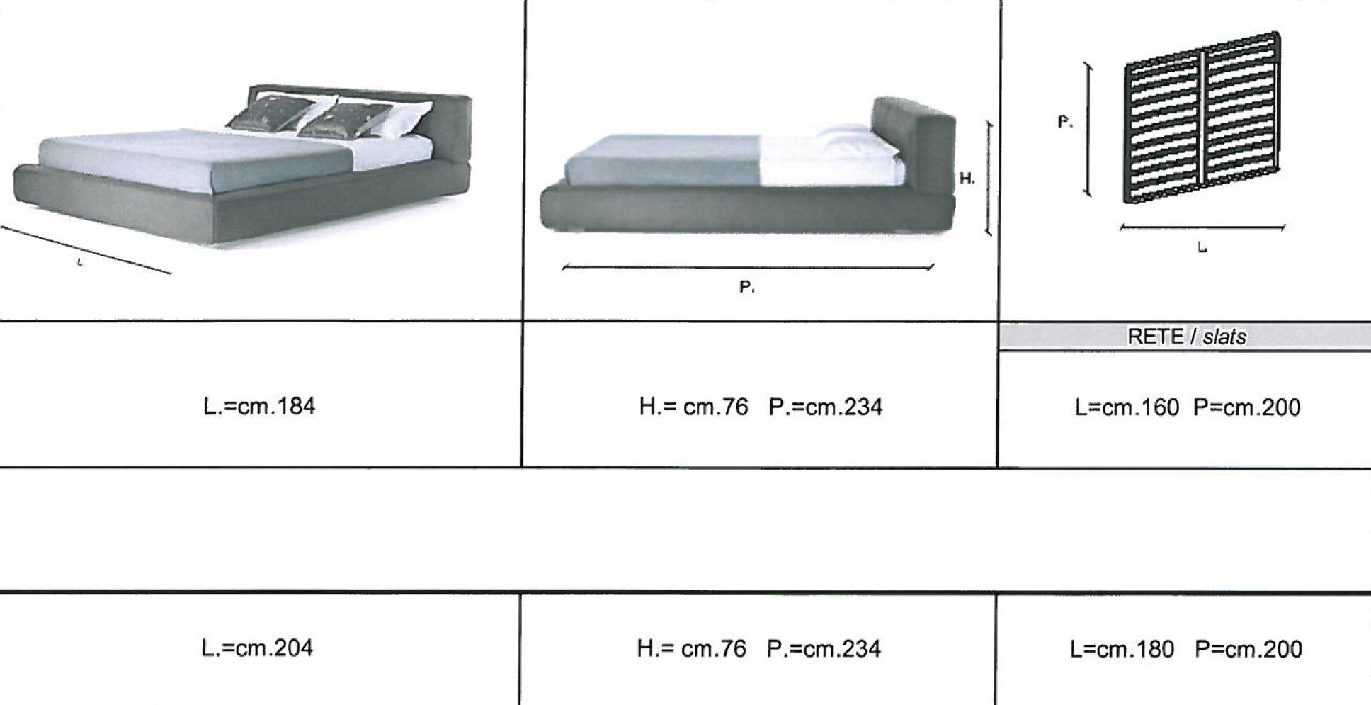 Letto matrimoniale king size misure idee di design per - Grandezza letto matrimoniale ...