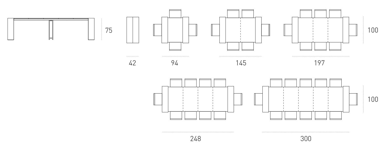 Dimensioni Tavolo Per 6 Persone. Carrello Cucina Dimensioni Tavolo ...