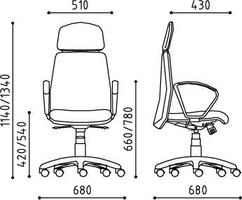 dimensione sedia da ufficio