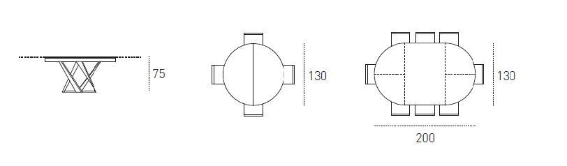 Dimensioni Tavolo Cronos - Target Point | ArredaSì